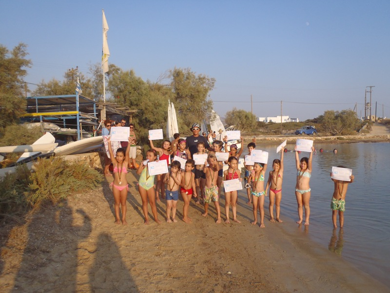 Summer activities in Antipartos Island